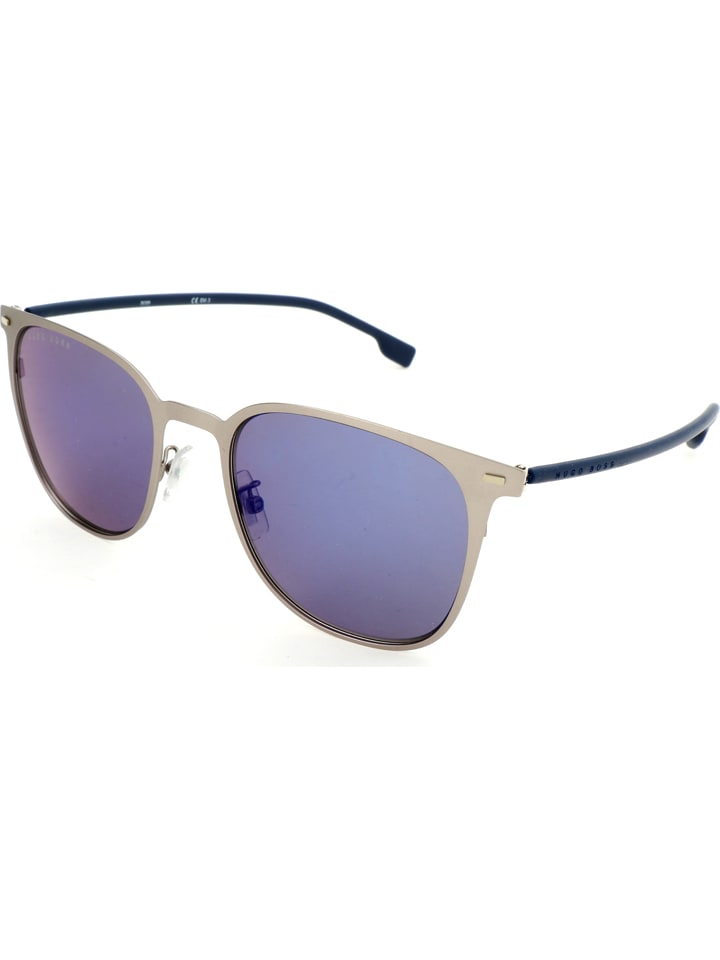 Dameszonebril donkerblauw-beige/blauw