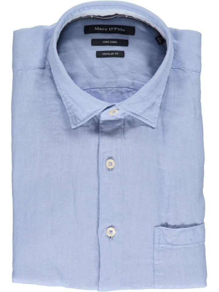 Marc O'Polo DENIM Linnen blouse - regular fit - lichtblauw