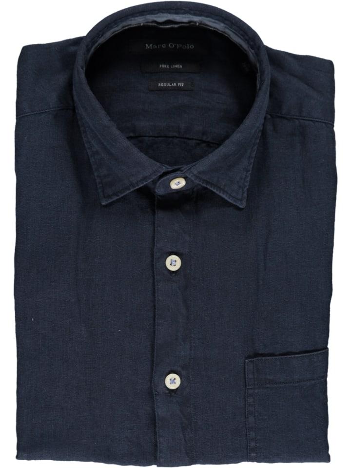 Marc O'Polo DENIM Linnen blouse - regular fit - donkerblauw