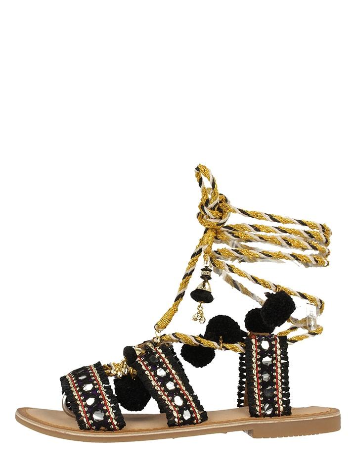 """Gioseppo Skórzane sandały """"Takiri"""" w kolorze czarnym"""