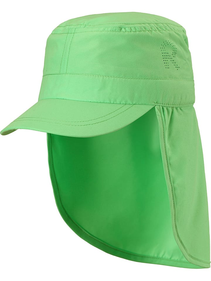 """Reima Czapka """"Aloha"""" w kolorze zielonym z osłoną karku"""