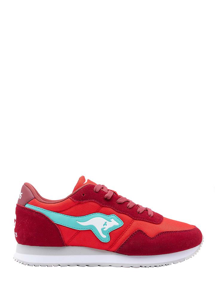 """Kangaroos Sneakers """"Invader 40"""" in Rot/ Türkis"""
