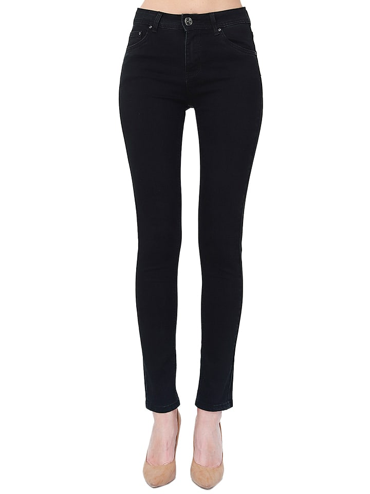 ASSUILI Dżinsy - Slim fit - w kolorze czarnym