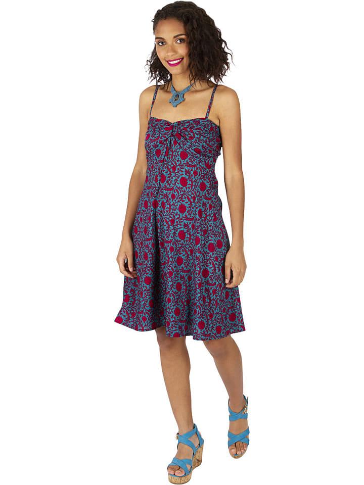 Aller Simplement Kleid in Türkis/ Rot günstig kaufen   limango