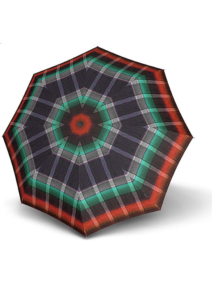 """Parasol """"Knirps T.703 Stick Automatic"""" w kolorze czarno-zielono-czerwonym"""