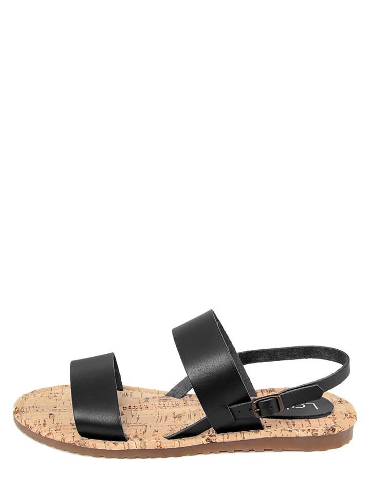 LAB78 Leren sandalen zwart