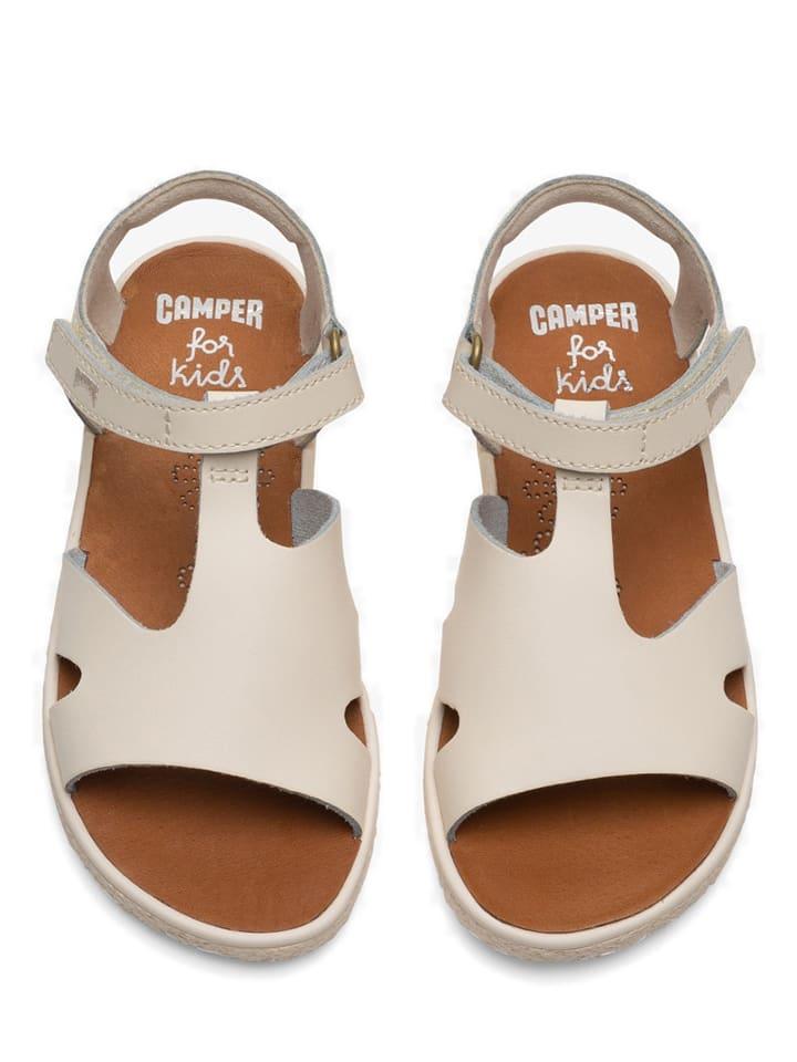 """Camper Skórzane sandały """"Miko"""" w kolorze kremowym"""