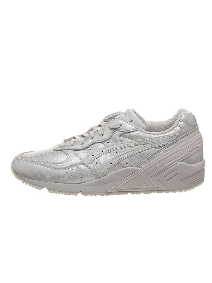 "Asics Skórzane sneakersy ""Gel Sight Reflective"" w kolorze srebrnym"