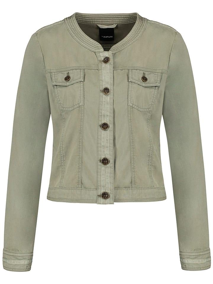 TAIFUN Kurtka dżinsowa w kolorze khaki
