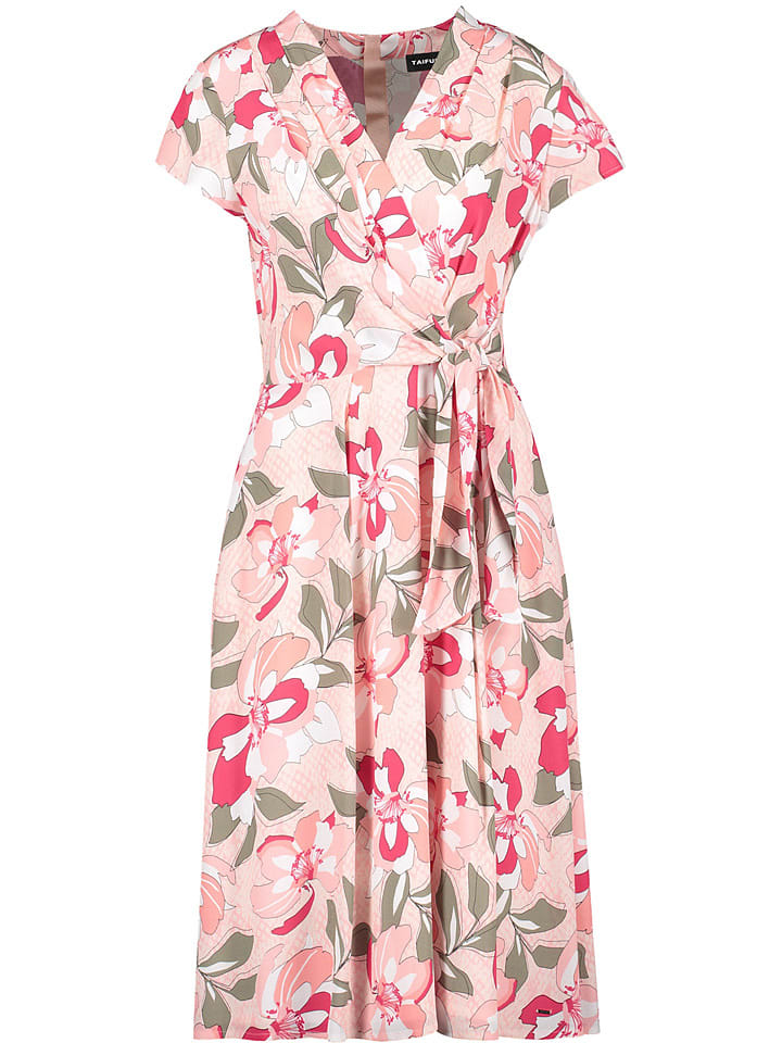 TAIFUN Kleid in Rosé/ Khaki