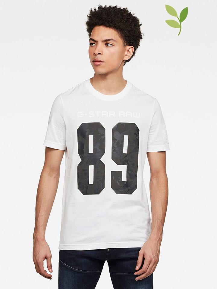 G-Star Shirt wit/zwart