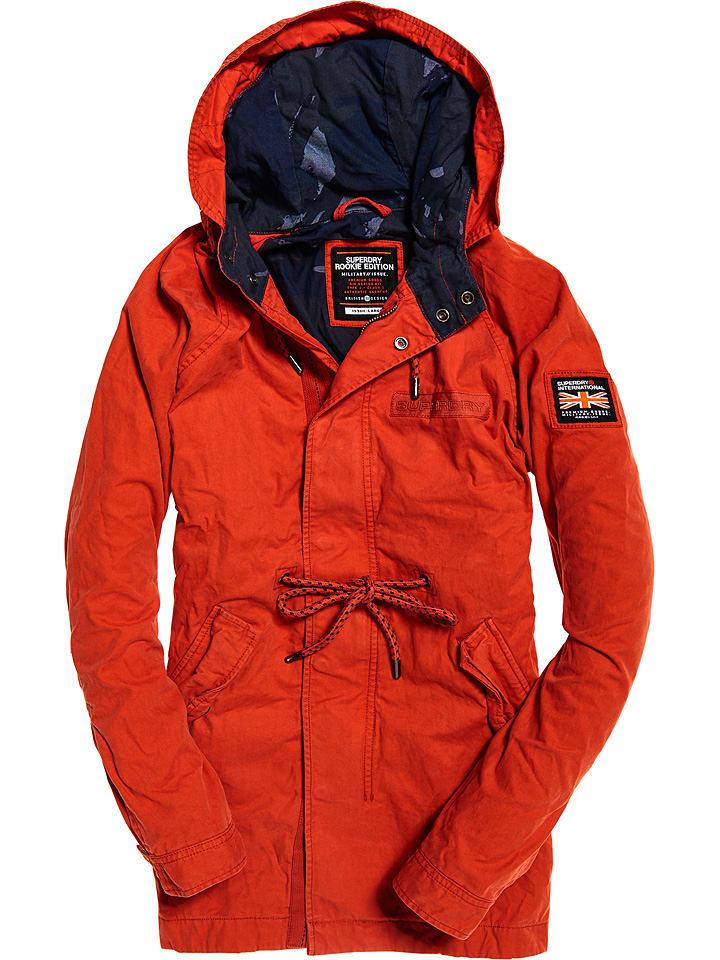"Superdry Parka ""Aviator Rookie"" in Orange"