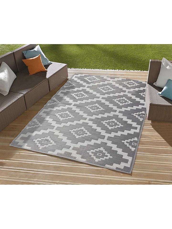 """Indoor-/outdoor-tapijt """"Scoobi"""" grijs/wit"""