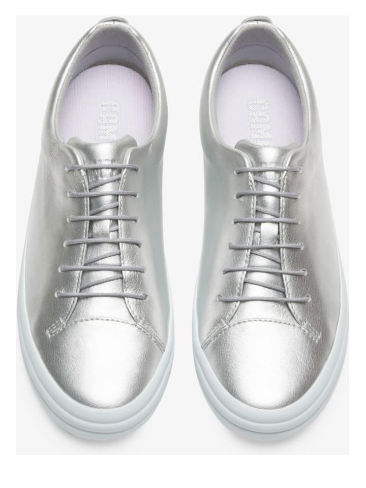 """Camper Leder-Sneakers """"Hoops"""" in Silber"""