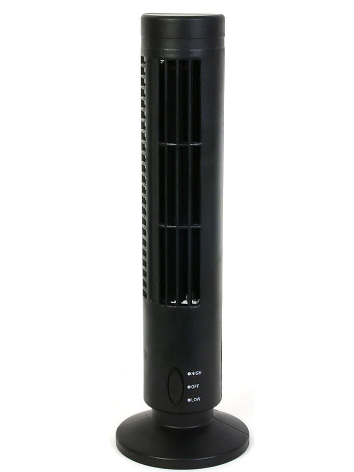 Ventilator zwart - (H)33 cm - Ø 6 cm