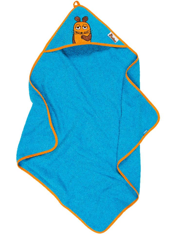 Playshoes Ręcznik w kolorze błękitnym z kapturem