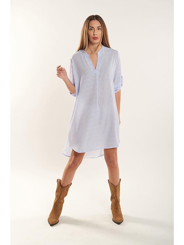 """Dioxide Kleid """"Clarina"""" in Weiß/ Hellblau günstig kaufen ..."""