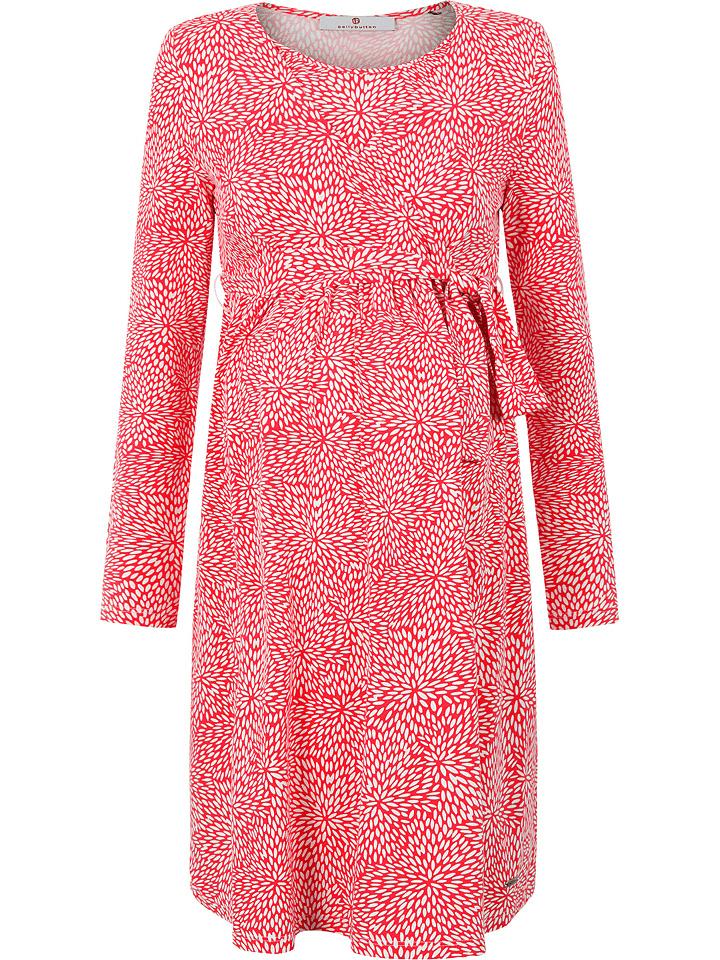 Bellybutton Stillkleid in Rot/ Weiß
