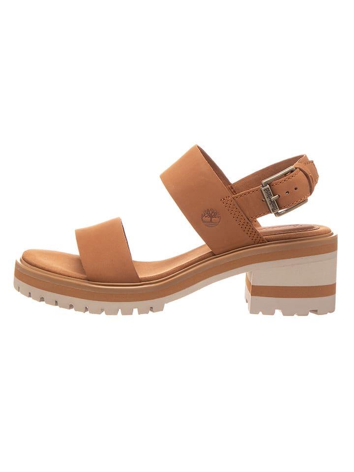 """Timberland Skórzane sandały """"Violet Mars"""" w kolorze jasnobrązowym"""