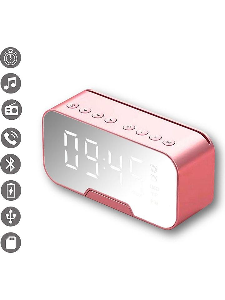 Evetane 2in1-Bluetooth-Radiowecker in Roségold