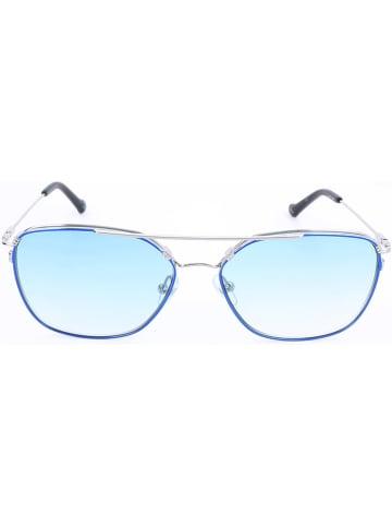 Adidas Unisekszonnebril blauw/zilverkleurig