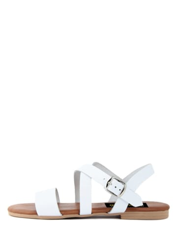 Fashion Attitude Leder-Sandalen in Weiß