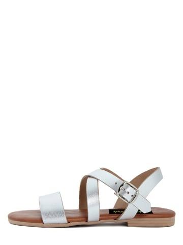 Fashion Attitude Leren sandalen zilverkleurig