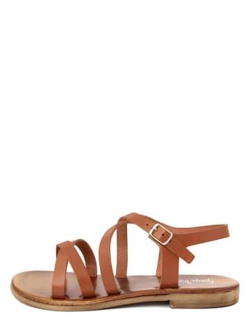 Giorgio Picino Skórzane sandały w kolorze brązowym