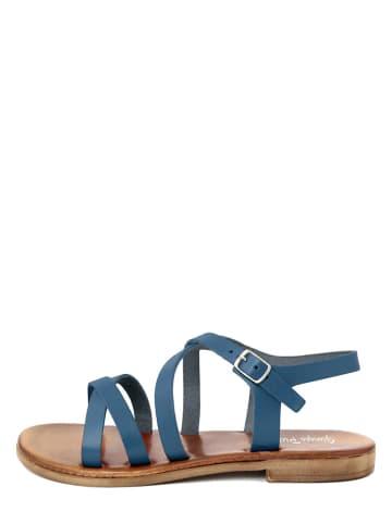 Giorgio Picino Leren sandalen blauw