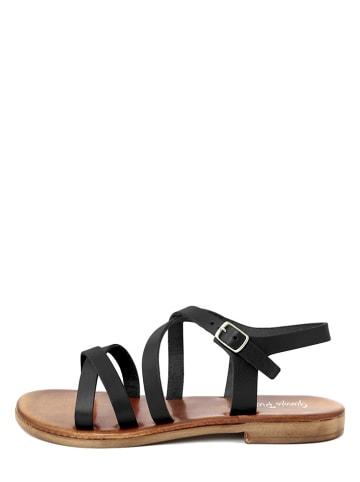 Giorgio Picino Skórzane sandały w kolorze czarnym
