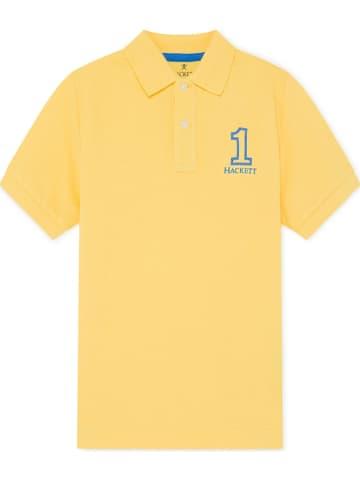 Hackett London Koszulka polo w kolorze żółtym