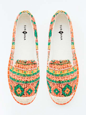 "Surkana Slipper ""Etnic"" in Orange/ Bunt"
