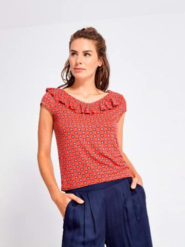 """Surkana Koszulka """"Bianca"""" w kolorze czerwonym ze wzorem"""