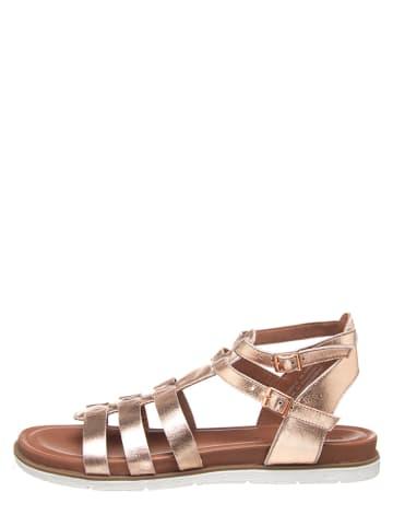 """SALAMANDER Skórzane sandały """"Musy"""" w kolorze różowozłotym"""
