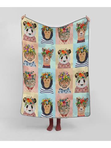 """Little nice things Omkeerbare deken """"Floral Friends"""" meerkleurig - (L)170 x (B)130 cm"""