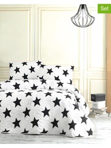 """Elizabed 3-częściowy komplet """"Big Star"""" w kolorze biało-czarnym"""