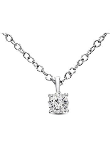 Vittoria Jewels Witgouden ketting met diamanten hanger - (L)40 cm
