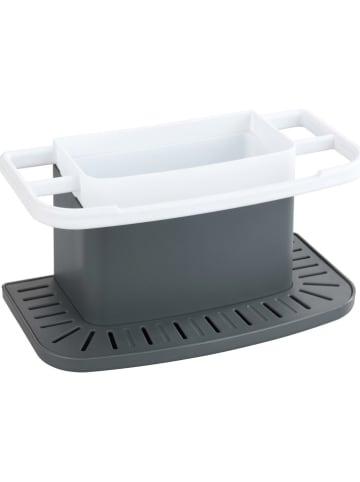 """Wenko Organizer """"Cosmo"""" w kolorze szaro-białym do mycia naczyń - 21 x 11 x 11,5 cm"""