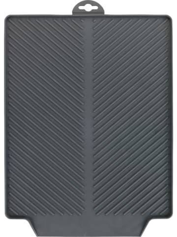"Wenko Afdruipmat ""Linea"" grijs - (B)40 x (H)3 x (D)30 cm"