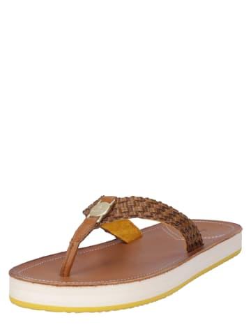 """GANT Footwear Zehentrenner """"Flatville"""" in Braun"""