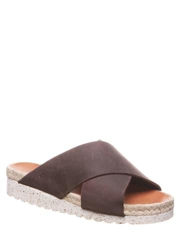 """Bearpaw Leren slippers """"Dolores"""" bruin"""