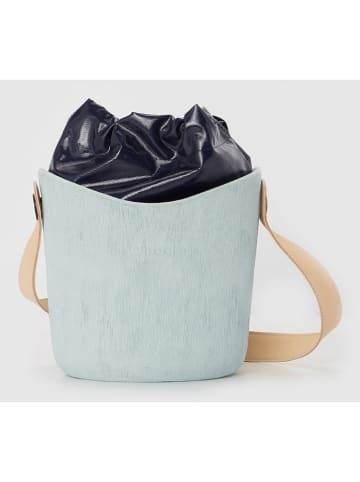 """O Bag Schoudertas """"O Basket"""" turquoise/zwart - (B)22 x (H)22 cm"""