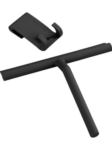 """Wenko Douchewisser """"Mola"""" zwart - (B)21 x (H)24,5 x (D)4 cm"""