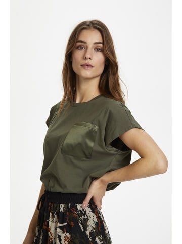"Kaffe Koszulka ""Blanca"" w kolorze khaki"