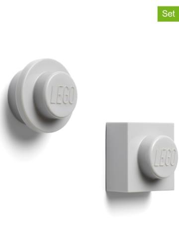 "LEGO Magnesy (2 szt.) ""Iconic"" w kolorze szarym"