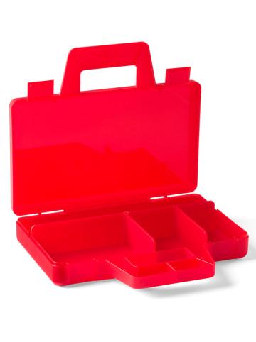 """LEGO Walizka """"Case to go"""" w kolorze czerwonym z przegrodami - 19 x 3,5 x 16 cm"""