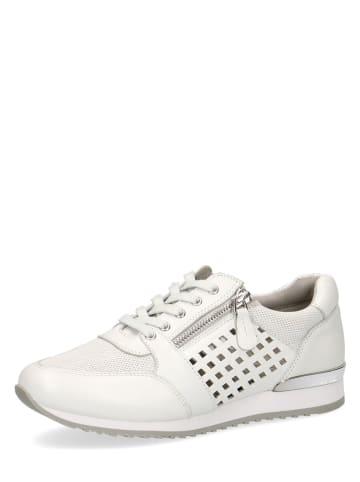 "Caprice Leren sneakers ""Ginga"" wit"