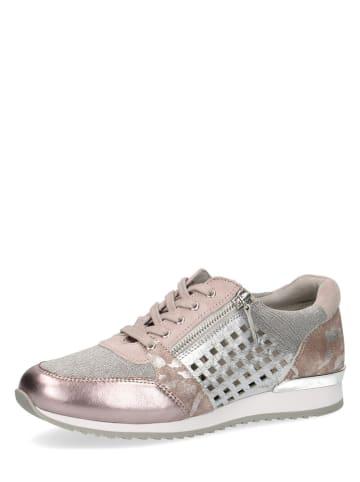 "Caprice Leder-Sneakers ""Ginga"" in Rosa/ Silber"