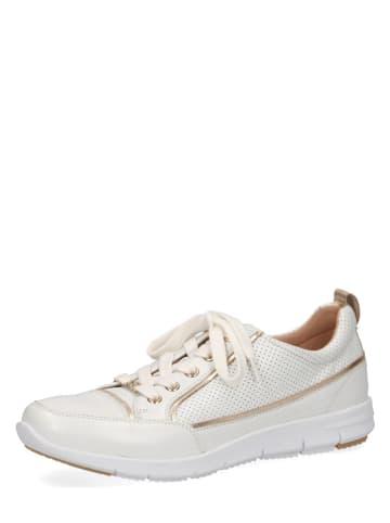 """Caprice Skórzane sneakersy """"Peggy"""" w kolorze białym"""