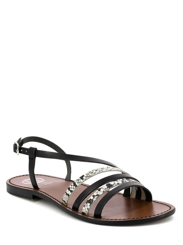 "Goldensun Leren sandalen ""Choisya"" zwart"